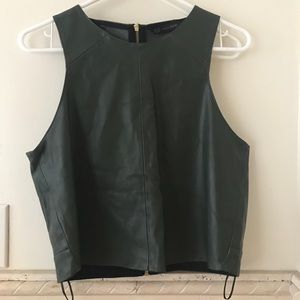 Zara faux leather tank, medium